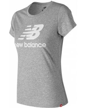 Футболка с логотипом хлопковая New Balance