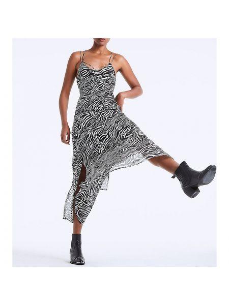 Летнее платье в полоску на бретелях La Redoute
