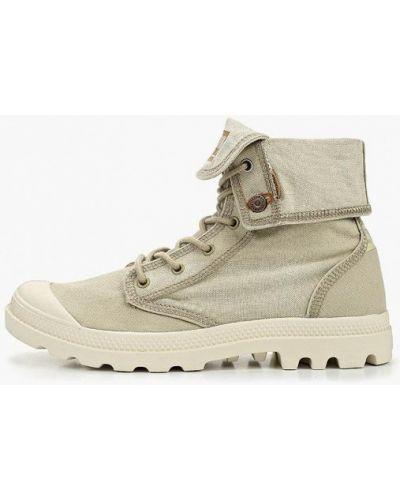Ботинки высокие бежевые Palladium