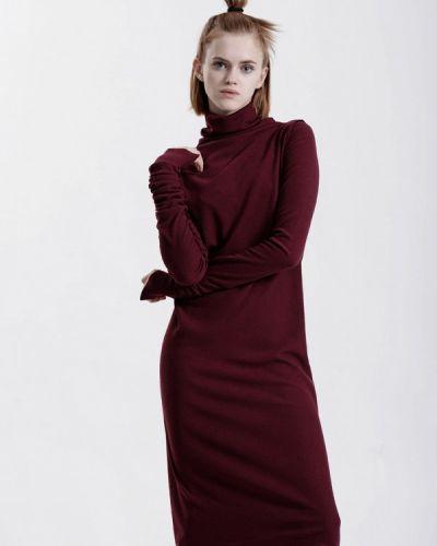 Платье осеннее красный W8less