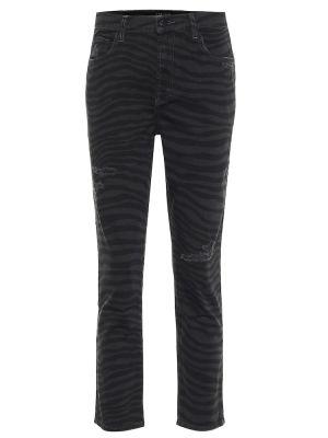 Хлопковые джинсы - черные J Brand