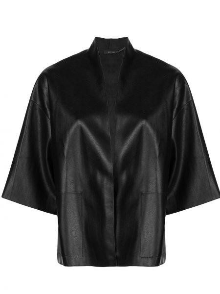 Кожаная куртка черная оверсайз Natori