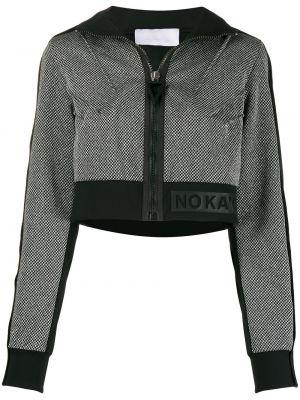 Вязаная нейлоновая черная спортивная куртка на молнии No Ka 'oi