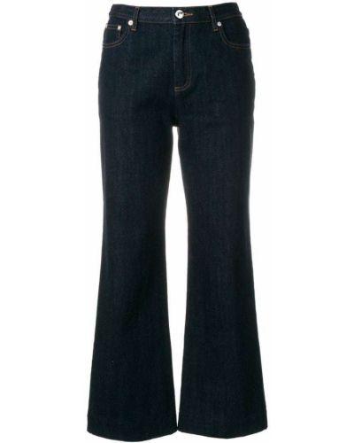 Синие укороченные джинсы A.p.c.