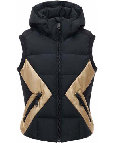 Пуховая черная куртка с капюшоном Goldbergh