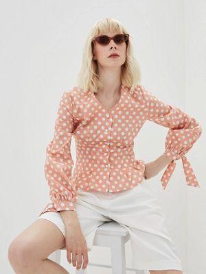 Блузка с длинным рукавом розовая весенний Lorani
