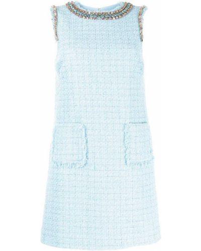 Платье твидовое - синее Blumarine