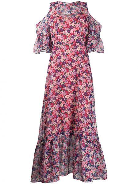 Платье макси на пуговицах с цветочным принтом Twin-set
