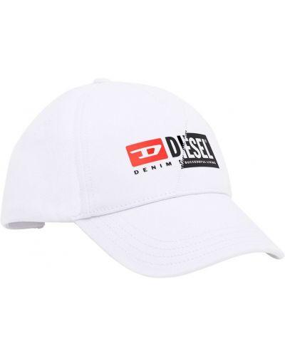 Biała kapelusz Diesel