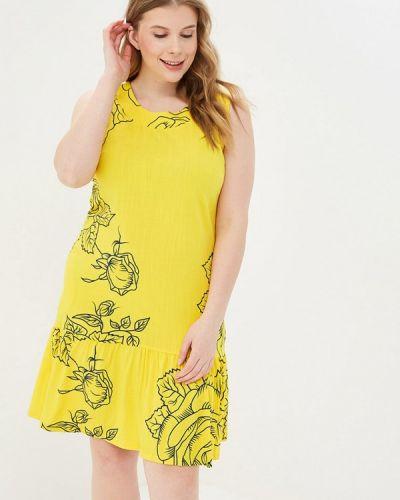 Платье прямое желтый Louitex