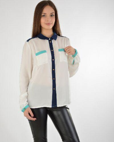 Блузка с длинным рукавом белая на пуговицах Baon