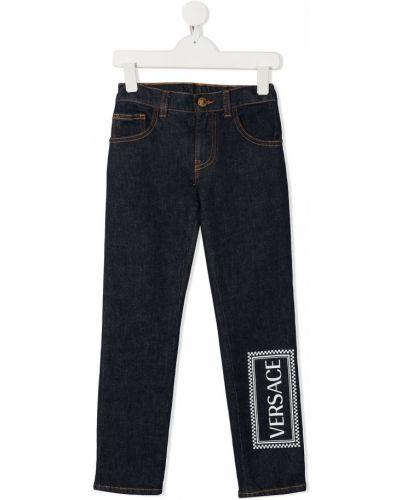 Klasyczne niebieskie jeansy bawełniane Young Versace