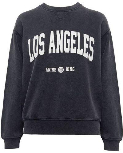 Czarna bluza z printem Anine Bing
