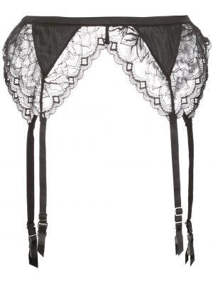 Шелковые черные кружевные колготки Fleur Du Mal
