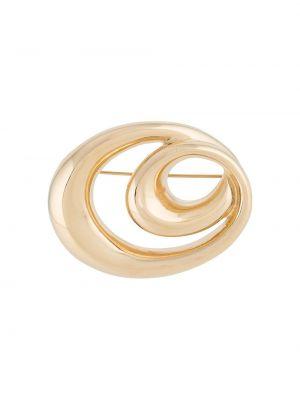 Золотистая желтая брошь позолоченная металлическая Givenchy Pre-owned