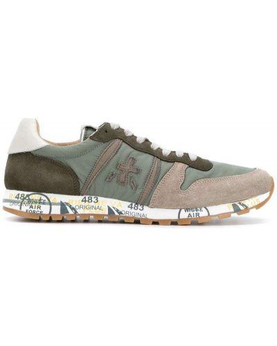 Кожаные кроссовки резиновые на шнуровке Premiata