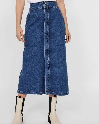 Синяя джинсовая юбка Vero Moda