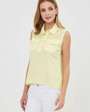 Блузка без рукавов турецкий желтый D'she