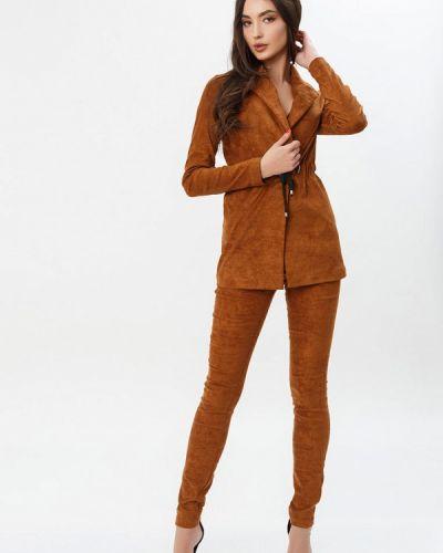 Брючный костюм коричневый Gepur