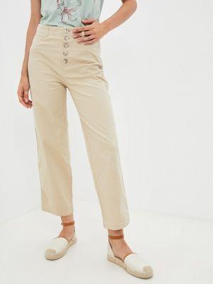 Бежевые весенние брюки элис