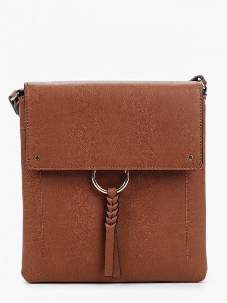 Коричневая кожаная сумка с перьями Marks & Spencer