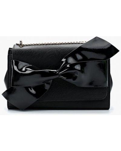 Черная кожаный сумка Dune