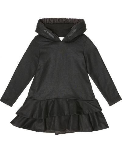 Bawełna bawełna czarny bluza z kapturem rozciągać Moncler Enfant