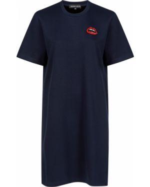 Платье из вискозы - синее Markus Lupfer