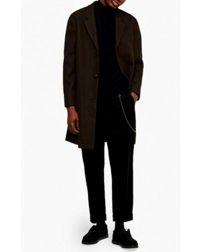 Пальто хаки зеленый Topman