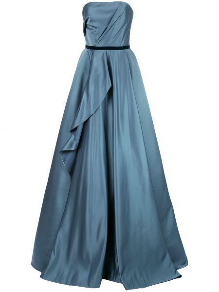 Вечернее платье на молнии с драпировкой Marchesa Notte