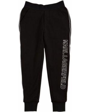 Хлопковые спортивные брюки с принтом Karl Lagerfeld