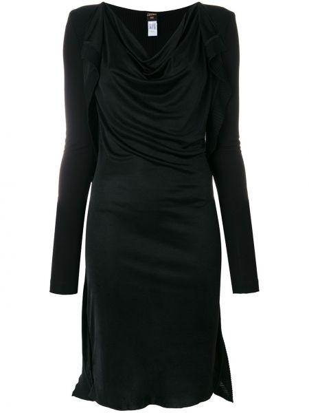 Приталенное платье миди винтажное с драпировкой с вырезом Jean Paul Gaultier Pre-owned