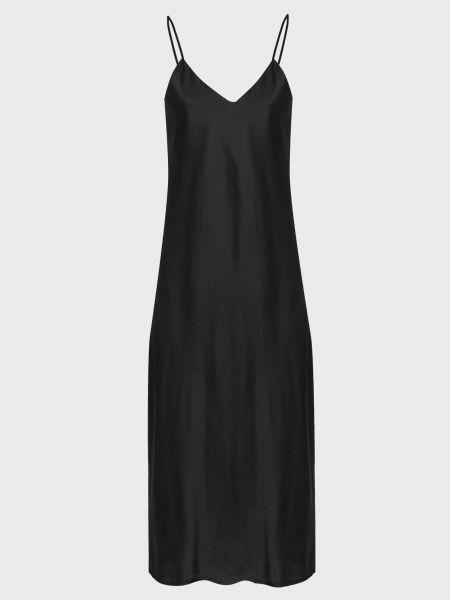 Шелковое платье - черное Vicolo