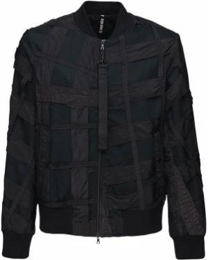 Prążkowana czarna kurtka Christopher Raeburn