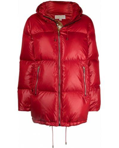 Пуховая красная куртка с капюшоном Michael Michael Kors