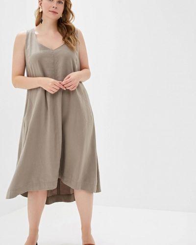 Повседневное платье весеннее бежевое Helmidge