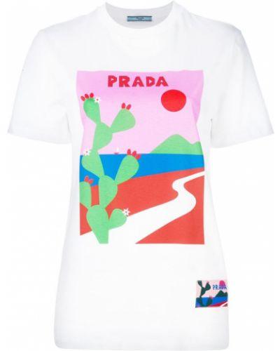 Футболка прямая хлопковая Prada
