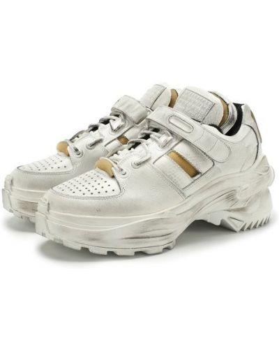 Кожаные кроссовки на шнуровке Maison Margiela