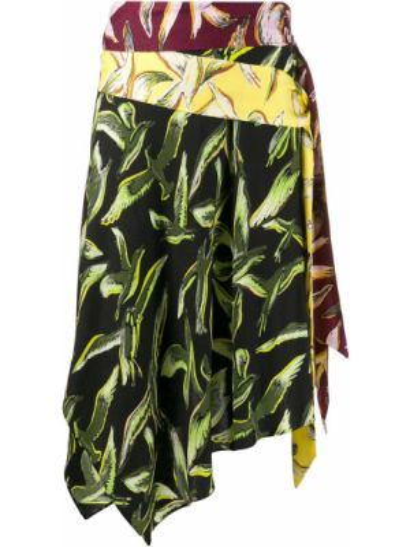 Шелковая черная юбка с запахом Emilio Pucci Pre-owned