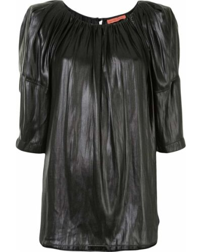 Черная блузка свободного кроя с вырезом круглая Manning Cartell
