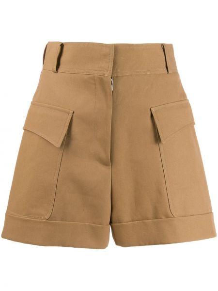 Однобортные шорты с карманами Victoria Beckham