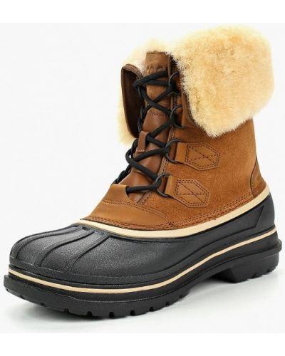 Ботинки осенние из нубука коричневый Crocs