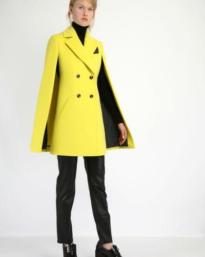 Пальто кейп - желтое Kano