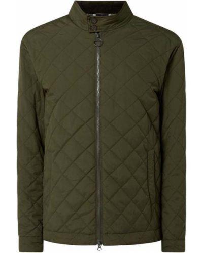 Zielona kurtka pikowana zapinane na guziki Barbour
