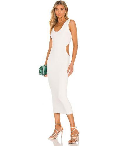 Рваное белое платье из вискозы Ronny Kobo
