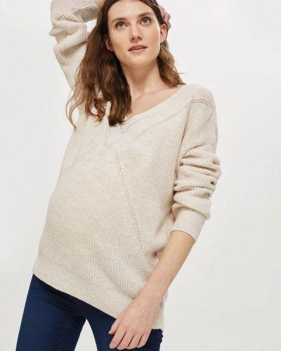 Бежевый пуловер Topshop Maternity