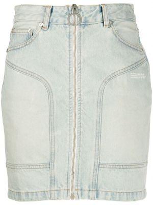 Синяя плиссированная юбка мини с карманами Off-white
