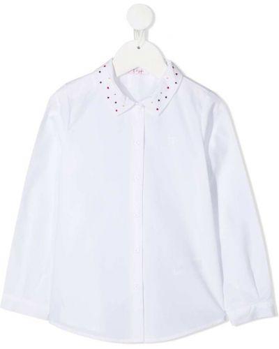 Белая рубашка с длинными рукавами с воротником Il Gufo