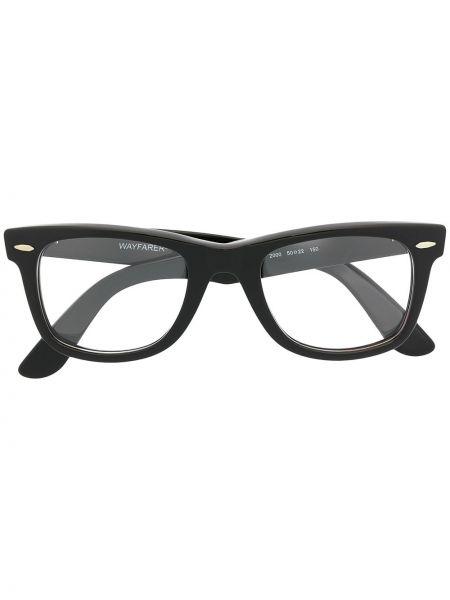 Черные очки вайфареры прозрачные Ray-ban