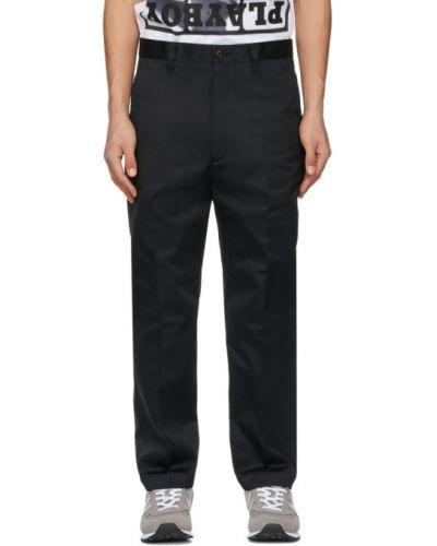 Прямые черные брюки с карманами Junya Watanabe